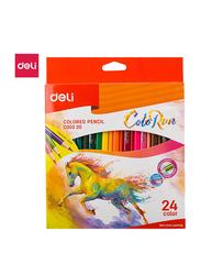 Deli EC00320 Color Pencil, 24 Pieces, Multicolor