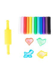 Deli D75041 Plasticine Clay, 12 Pieces, 160 grams, Multicolor