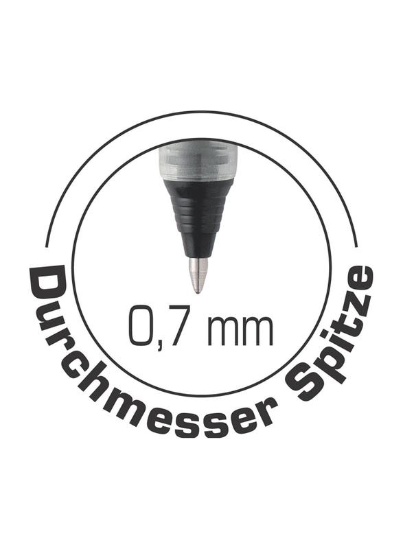 BIC 537r Medium Point 0.7mm Liquid Roller Pen, Black