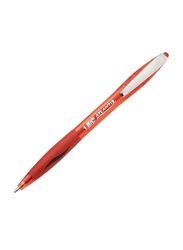 BIC Atlantis Soft Retractable Medium Point Ball Pen, Red
