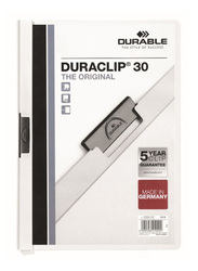 Durable Duraclip 2200-02 30-Sheets Capacity Clip File, A4 Size, White