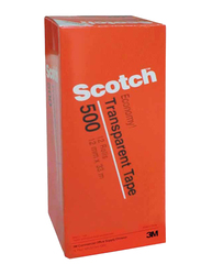 3M Scotch 500-1236C Utility Tape, 12.7mm x 36Yards, 12 Rolls, Clear