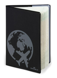 Durable 2144-01 RFID Secure Passport Cover, Black/Grey