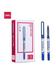 Deli EQ20030 Roller Pen, 12 Pieces, 0.5mm, Blue