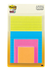 3M Post-It 4622-SSEU Super Sticky Multi Packs, 4 Sizes with 4 Different Colors, Multicolor