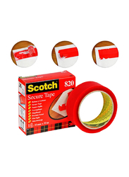 3M Scotch 820 FT500013055 Secure Tape, 35mm x 33 Meter, Red