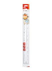 Deli EG00312 Plastic Ruler, 300mm, Clear