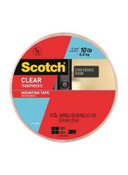 3M Scotch Long4010 Perm Mounting Tape, 25.4mm x 11.4 meters, Red