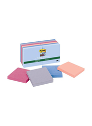 3M Post-It 654 12SSNRP Super Sticky Notes, 76.2 x 76.2mm, 12 x 90 Sheets, Multicolor