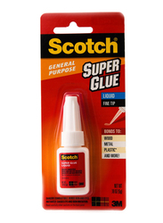 3M Scotch AD110 Super Glue Liquid, 5gm, White