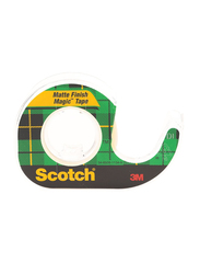 3M Scotch 104 Magic Tape with Plastic Dispenser, Green
