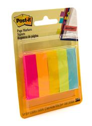 3M Post-It 670-5AF Fluorescent Colors Page Marker, 1.27 x 4.44cm, 5 x 50 Sheets, Multicolor