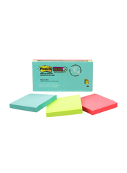 3M Post-It R330-6SSMIA Miami Super Sticky Pop Up Notes, 76 x 76mm, 6 x 90 Sheets, Multicolor