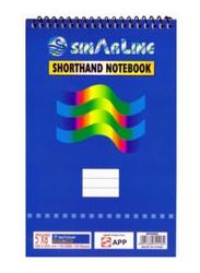 Sinar Spiral Short Hand Pad, A5 Size, 127 x 203mm, White