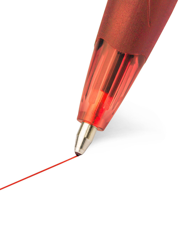 BIC Atlantis Soft Retractable Medium Point Ball Pen, Red
