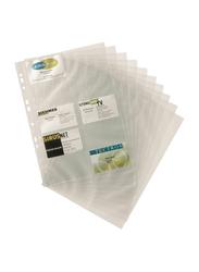 Durable 2389-19 Business Card Pocket Refills, 10 Pieces, A4 Size, Transparent
