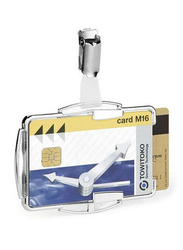 Durable 8902-23 RFID Secure Duo Card Holder, Clear