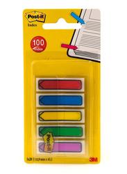 3M Post-It 684-ARR1EU Arrow Tape Flags, 11.9 x 43.3mm, 5 x 20 Sheets, Multicolor