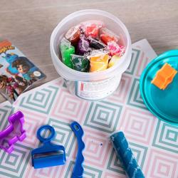 Deli D75346 12 Colors Clay Dough, 160 grams, Multicolor