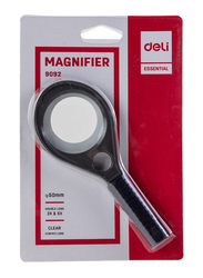 Deli E9092 50mm Lens Magnifying Glass, 1 Piece, Black