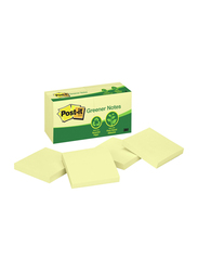 3M Post-It Greener Sticky Notes, 76 x 76mm, 12 x 100 Sheets, Canary Yellow