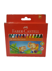 Faber-Castell FCIN120039 Fc Jumbo Wax Crayon, 24 Pieces, Multicolor