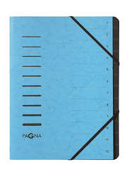 Durable 40059-18 Pagna Signature 12 Compartment File, A4 Size, Blue