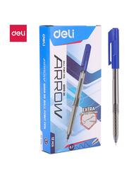Deli EQ00930 Ball Point Mini Tip Pen, 12 Pieces, 0.7mm, Blue