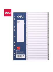 Deli E38157 Sheets Dividers, 20 Sheets, Grey