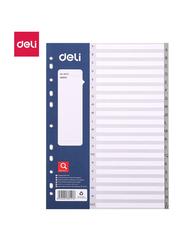 Deli E38157 Sheets Dividers, 20 Sheets, Grey
