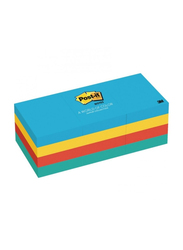 3M Post-it 653-AU Ultra Colors Sticky Notes, 34.9 x 47.6mm, 12 x 100 Sheets, Multicolor