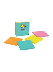 3M Post-It Miami Collection Super Sticky Notes, 101 x 101mm, 4 x 90 Sheets, Multicolor