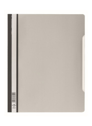 Durable 2570-10 PVC Clear View File Folder, A4 Size, Grey