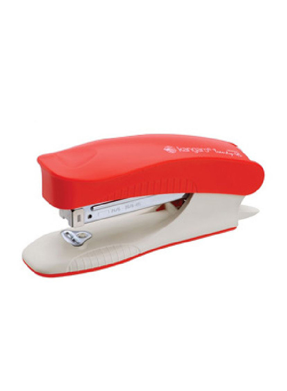 Kangaro Trendy 45 Stapler, Up to 25 Sheets Capacity, Red