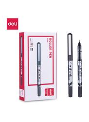 Deli EQ20020 Roller Pen, 12 Pieces, 0.5mm, Black