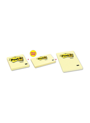 3M Post-it Sticky Notes Bundle, 654 + 655 + 660, Combo Pack, Yellow