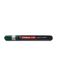 Edding E-790 Permanent Paint Marker with Bullet Tip, Green