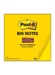 3M Post-It BN11 Xl Size Super Big Sticky Notes, 279 X 279mm, 30 Sheets, Yellow