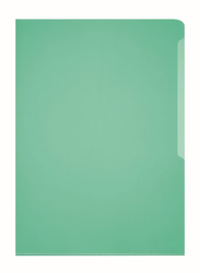 Durable 2339-05 PVC L-Shaped Transparent File Folder, A4 Size, 50 Pieces, Green