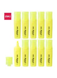 Deli ES621 Highlighter, 10 Pieces, 1-5mm, Yellow
