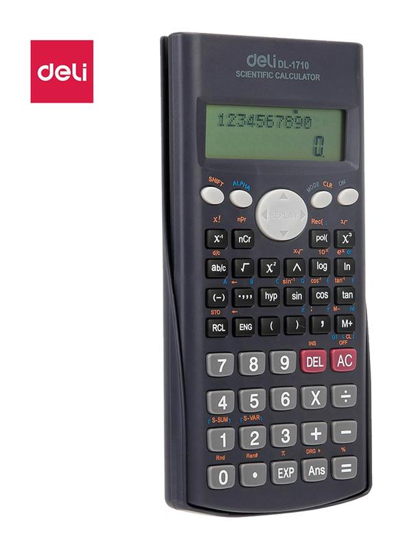 Deli E1710 10 + 2 Digits 240F Scientific Calculator, Black