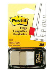 3M Post-It 680-6 Tape Flags, 25.4 x 43.18mm, 50 Sheets, White