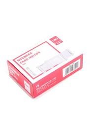 Deli E7621 Acrylic Card Holder, 103 x 68 x 34mm, Clear