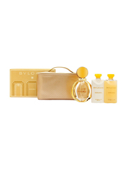 Bvlgari 4-Piece Goldea Gift Set for Women, 90ml EDP, 75ml Body Lotion, 75ml Body Gel, Beauty Pouch