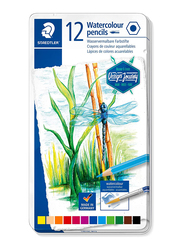 Staedtler Journey ST-14610C-M12 Watercolor Pencils Set, 12 Pieces, Assorted Colors