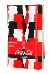 Moleskine Coke Limited Edition Hard Cover Plain Notebook, ME-LECOQP062, Red/White/Black
