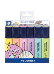Staedtler Textsurfer Classic Pastel 364 CWP6 Highlighters, 6-Pieces, Multicolor