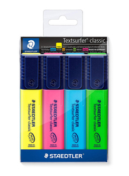 Staedtler Textsurfer Classic 364 Highlighters, 4-Pieces, Multicolor