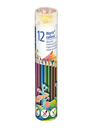 Staedtler Noris Color Pencils Cylinder, 12-Pieces, Multicolor