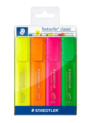 Staedtler Textsurfer Classic 364PWP4 Highlighters, 4-Pieces, Multicolor